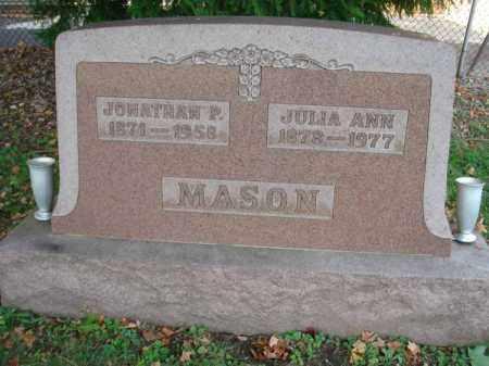 MASON, JULIA ANN - Fairfield County, Ohio | JULIA ANN MASON - Ohio Gravestone Photos