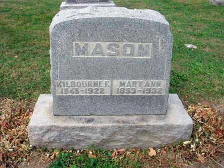 MASON, MARY ANN - Fairfield County, Ohio | MARY ANN MASON - Ohio Gravestone Photos