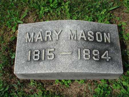 MASON, MARY - Fairfield County, Ohio | MARY MASON - Ohio Gravestone Photos