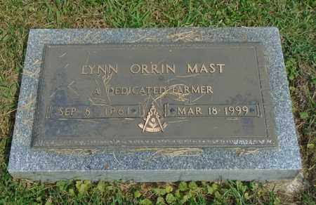 MAST, LYNN ORRIN - Fairfield County, Ohio | LYNN ORRIN MAST - Ohio Gravestone Photos