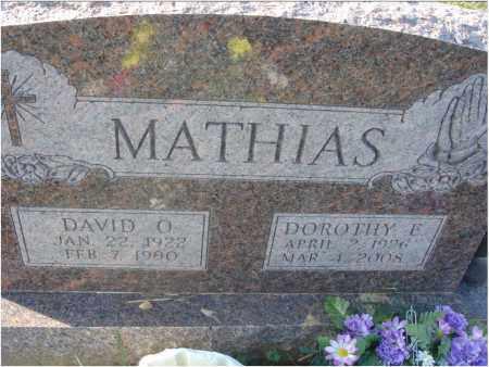 SPANGLER MATHIAS, DOROTHY E. - Fairfield County, Ohio | DOROTHY E. SPANGLER MATHIAS - Ohio Gravestone Photos