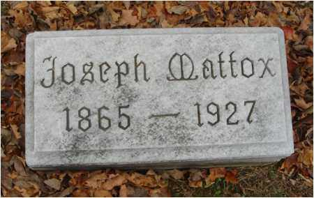MATTOX, JOSEPH - Fairfield County, Ohio | JOSEPH MATTOX - Ohio Gravestone Photos