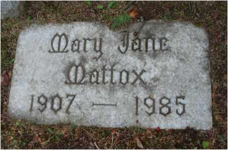 MATTOX, MARY JANE - Fairfield County, Ohio   MARY JANE MATTOX - Ohio Gravestone Photos
