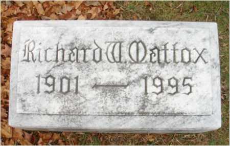 MATTOX, RICHARD W. - Fairfield County, Ohio | RICHARD W. MATTOX - Ohio Gravestone Photos