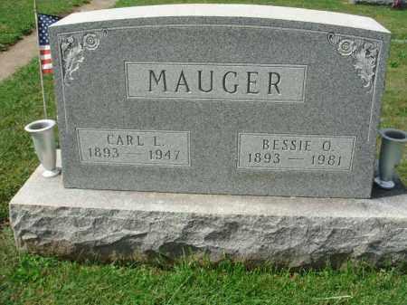 MAUGER, BESSIE O. - Fairfield County, Ohio   BESSIE O. MAUGER - Ohio Gravestone Photos