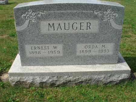 MAUGER, ERNEST W. - Fairfield County, Ohio | ERNEST W. MAUGER - Ohio Gravestone Photos