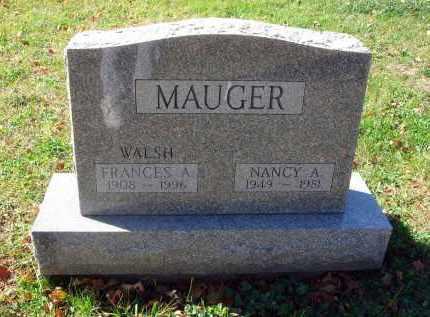 MAUGER, FRANCES A. - Fairfield County, Ohio | FRANCES A. MAUGER - Ohio Gravestone Photos