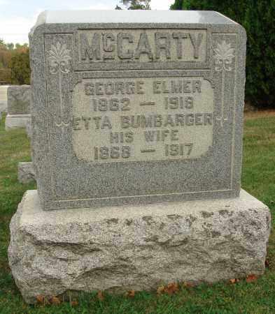 MCCARTY, ETTA BUMBARGER - Fairfield County, Ohio   ETTA BUMBARGER MCCARTY - Ohio Gravestone Photos