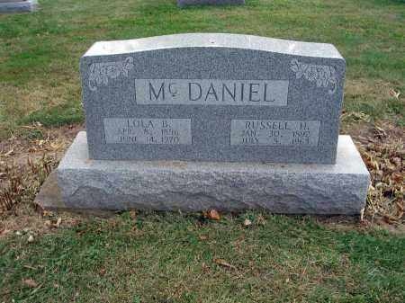 MCDANIEL, RUSSELL H. - Fairfield County, Ohio | RUSSELL H. MCDANIEL - Ohio Gravestone Photos