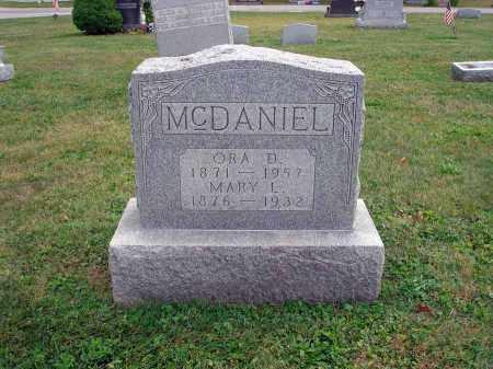 MCDANIEL, MARY L. - Fairfield County, Ohio   MARY L. MCDANIEL - Ohio Gravestone Photos