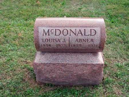 MCDONALD, LOUISA J. - Fairfield County, Ohio | LOUISA J. MCDONALD - Ohio Gravestone Photos