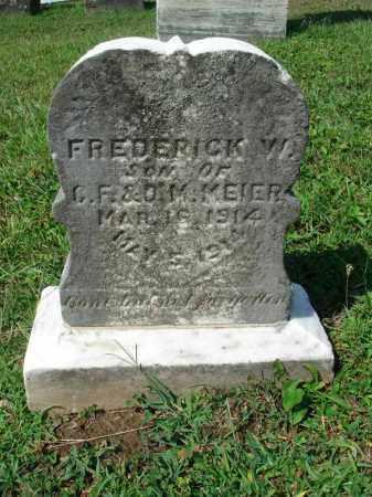 MEIER, FREDERICK W. - Fairfield County, Ohio | FREDERICK W. MEIER - Ohio Gravestone Photos