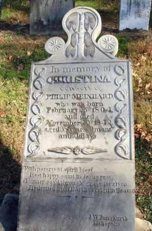 MEINHARD, CHRISTINA - Fairfield County, Ohio   CHRISTINA MEINHARD - Ohio Gravestone Photos