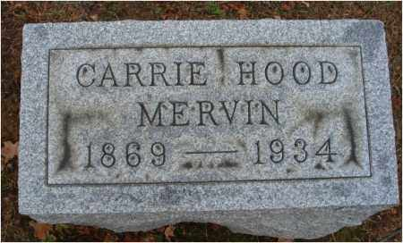 HOOD MERVIN, CARRIE - Fairfield County, Ohio | CARRIE HOOD MERVIN - Ohio Gravestone Photos