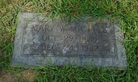 MICHELS, MARY W. - Fairfield County, Ohio | MARY W. MICHELS - Ohio Gravestone Photos