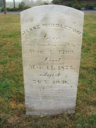 MIDDLETON, JESSE - Fairfield County, Ohio | JESSE MIDDLETON - Ohio Gravestone Photos
