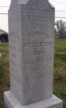 MIDDLETON, THOMAS - Fairfield County, Ohio | THOMAS MIDDLETON - Ohio Gravestone Photos