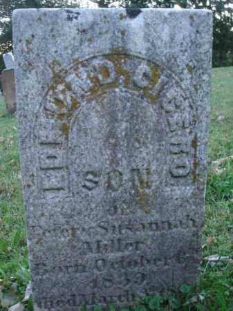 MILLER, EDMOND CICERO - Fairfield County, Ohio   EDMOND CICERO MILLER - Ohio Gravestone Photos