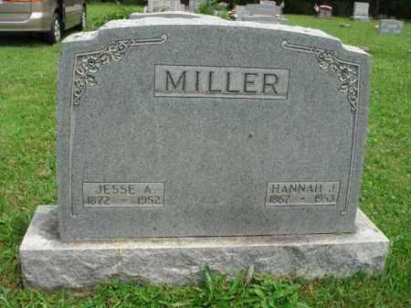MILLER, HANNAH J. - Fairfield County, Ohio | HANNAH J. MILLER - Ohio Gravestone Photos