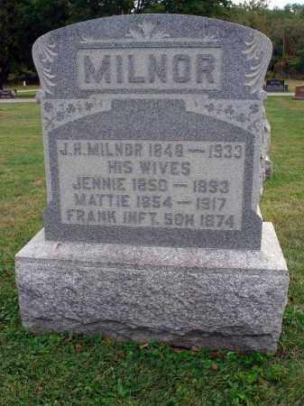 MILNOR, J. H. - Fairfield County, Ohio | J. H. MILNOR - Ohio Gravestone Photos