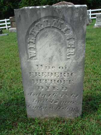 MITHOFF, WILHELMINER - Fairfield County, Ohio | WILHELMINER MITHOFF - Ohio Gravestone Photos