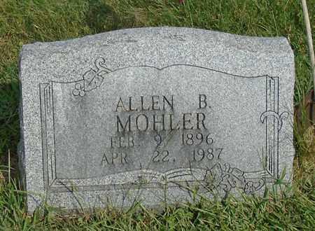 MOHLER, ALLEN B. - Fairfield County, Ohio | ALLEN B. MOHLER - Ohio Gravestone Photos