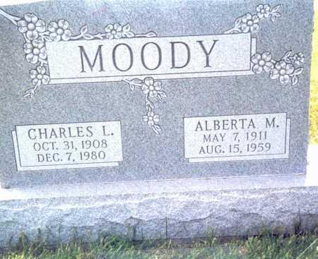 WALKER MOODY, ALBERTA M. - Fairfield County, Ohio   ALBERTA M. WALKER MOODY - Ohio Gravestone Photos