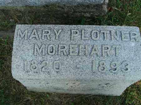 PLOTNER MOREHART, MARY - Fairfield County, Ohio | MARY PLOTNER MOREHART - Ohio Gravestone Photos