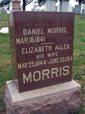 ALLEN MORRIS, ELIZABETH - Fairfield County, Ohio | ELIZABETH ALLEN MORRIS - Ohio Gravestone Photos