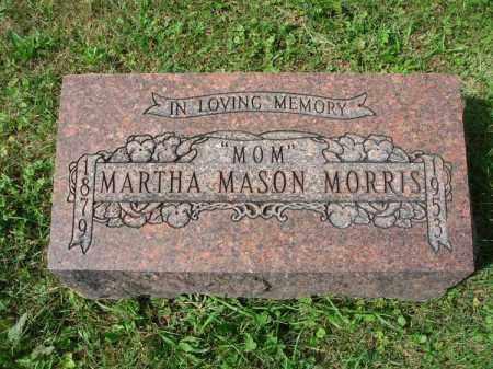 MASON MORRIS, MARTHA - Fairfield County, Ohio   MARTHA MASON MORRIS - Ohio Gravestone Photos