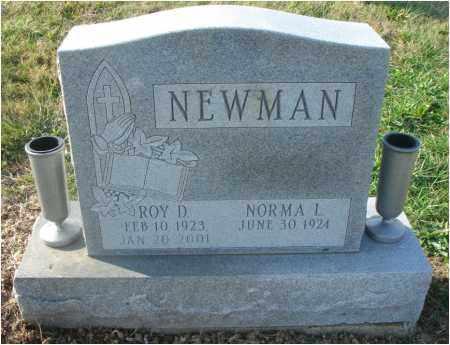 NEWMAN, ROY D. - Fairfield County, Ohio   ROY D. NEWMAN - Ohio Gravestone Photos