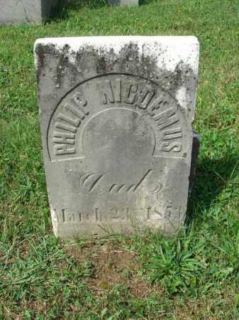 NICDEMUS, PHILIP - Fairfield County, Ohio | PHILIP NICDEMUS - Ohio Gravestone Photos