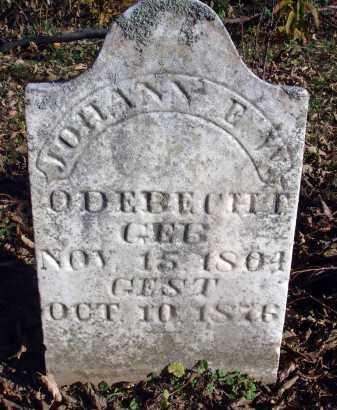ODEBECHT, JOHANN - Fairfield County, Ohio   JOHANN ODEBECHT - Ohio Gravestone Photos