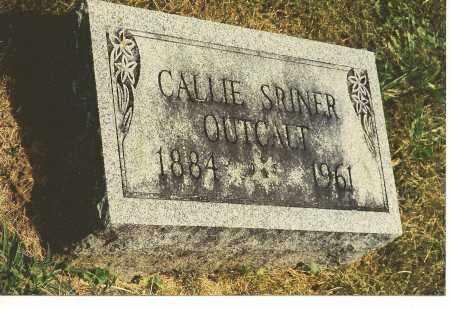 SRINER OUTCALT, CALLIE JANE - Fairfield County, Ohio | CALLIE JANE SRINER OUTCALT - Ohio Gravestone Photos