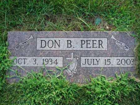 PEER, DON B. - Fairfield County, Ohio | DON B. PEER - Ohio Gravestone Photos