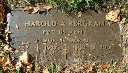 PERGRAM, HAROLD A. - Fairfield County, Ohio | HAROLD A. PERGRAM - Ohio Gravestone Photos
