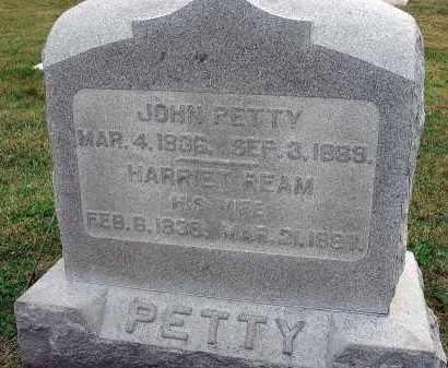 REAM PETTY, HARRIET - Fairfield County, Ohio | HARRIET REAM PETTY - Ohio Gravestone Photos