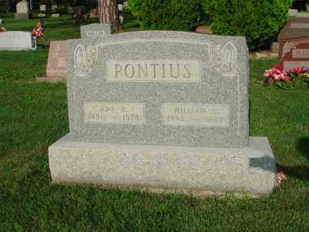 PONTIUS, WILLIAM - Fairfield County, Ohio | WILLIAM PONTIUS - Ohio Gravestone Photos