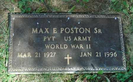 POSTON, MAX E. SR. - Fairfield County, Ohio | MAX E. SR. POSTON - Ohio Gravestone Photos