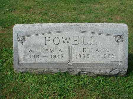 POWELL, WILLIAM A. - Fairfield County, Ohio | WILLIAM A. POWELL - Ohio Gravestone Photos
