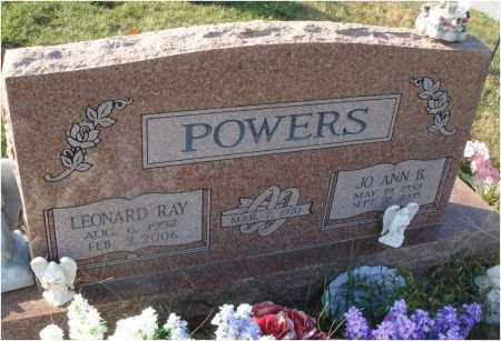 POWERS, LEONARD RAY - Fairfield County, Ohio | LEONARD RAY POWERS - Ohio Gravestone Photos