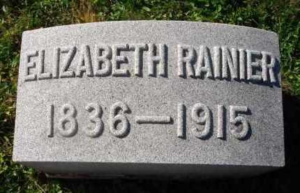 RAINIER, ELIZABETH - Fairfield County, Ohio | ELIZABETH RAINIER - Ohio Gravestone Photos