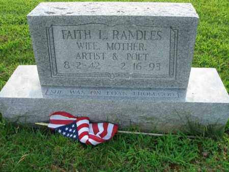 RANDLES, FAITH L. - Fairfield County, Ohio   FAITH L. RANDLES - Ohio Gravestone Photos