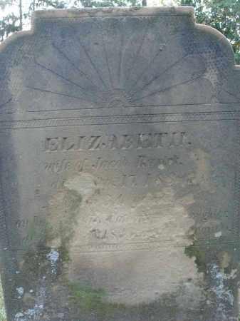 RARICK, ELIZABETH - Fairfield County, Ohio   ELIZABETH RARICK - Ohio Gravestone Photos