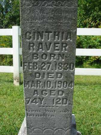 RAVER, CINTHIA - Fairfield County, Ohio | CINTHIA RAVER - Ohio Gravestone Photos