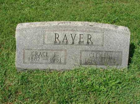 RAVER, GRACE E. - Fairfield County, Ohio | GRACE E. RAVER - Ohio Gravestone Photos