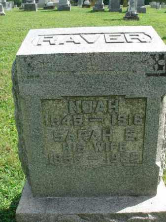 RAVER, SARAH E. - Fairfield County, Ohio | SARAH E. RAVER - Ohio Gravestone Photos