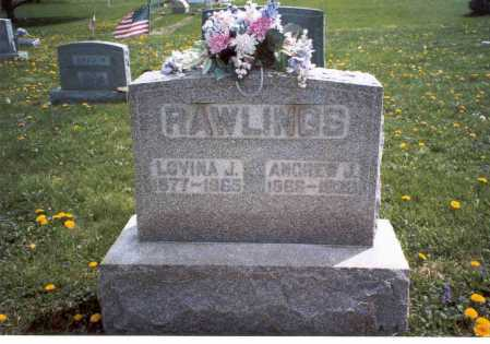ROMINE RAWLINGS, LOVINA J. - Fairfield County, Ohio | LOVINA J. ROMINE RAWLINGS - Ohio Gravestone Photos