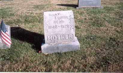 PAUL REDD, MARY LOUISE - Fairfield County, Ohio | MARY LOUISE PAUL REDD - Ohio Gravestone Photos