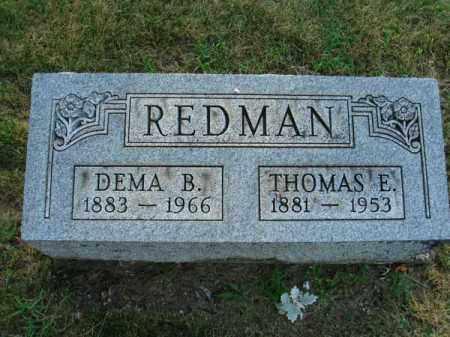 REDMAN, DEMA B. - Fairfield County, Ohio | DEMA B. REDMAN - Ohio Gravestone Photos